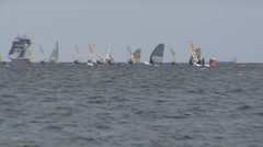 Windsurfing Race during Kiel Week Stock Footage