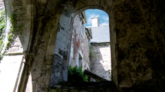Ruins of the Abbaye maritime de Beauport (4) - Paimpol France - stock footage