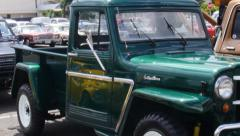 1940s jeep pick-up truck Stock Footage