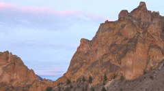Smith Rocks Time Lapse Climbers Stock Footage