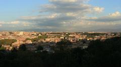 The city ROME establishing shot 7 Stock Footage