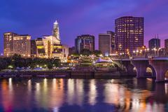 Stock Photo of downtown hartford, connecticut skyline