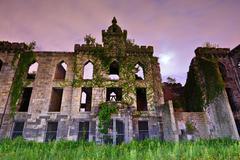 smallpox hospital ruins - stock photo
