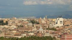 The city ROME establishing shot 8 Stock Footage