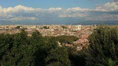 The city ROME establishing shot 9 Stock Footage