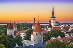 Tallinn estonia skyline Stock Photos