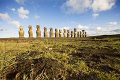 Statues easter island Stock Photos
