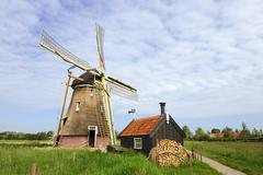 Stock Photo of dutch windmill - groot-ammers