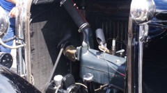 Old 1930s car engine Stock Footage