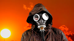 Protective mask Stock Footage