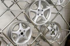 Rims for cars Stock Photos