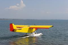 water airplane - stock photo