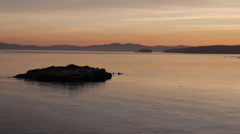 Sunrise on BC Ferry from Swartz Bay to Tsawassen Stock Footage