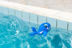 toy in the swimming pool - stock photo