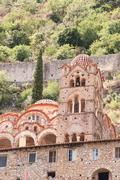 church in greek byzantine town mystras - stock photo