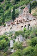 Byzantine church in the greek town mystras Stock Photos