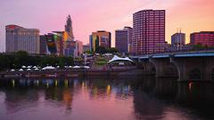Hartford Connecticut Skyline Stock Footage