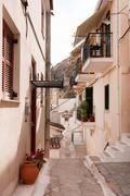 Greek alley in nafplion Stock Photos