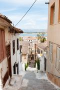 City nafplion with town and harbor Stock Photos