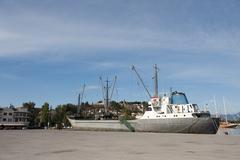 industrial harbor greek nafplion - stock photo