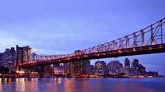 Queensboro Bridge in New york City Stock Footage