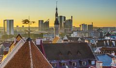 tallinn estonia skyline - stock photo