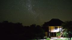 Star Time Lapse Kruger Park Stock Footage