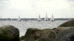 Sailing Boats Kiel Week 2013 4 Stock Footage