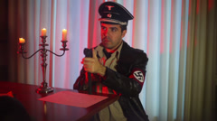 Nazi officer going on attack Stock Footage