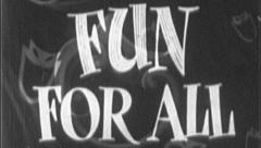 FUN FOR ALL Vintage Old Film Title Graphic Leader Happy 8mm 7087 Stock Footage