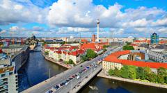 Berlin, Germany Skyline Stock Footage