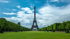 La Tour Eiffel, Paris Stock Footage