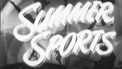 SUMMER SPORTS SEASON Vintage Old Film Title Graphic Leader 8mm 7088 Stock Footage