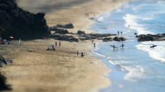surf school beach live tilt shift time lapse 11121 - stock footage