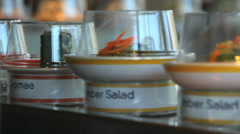 Sushi on Conveyer Belt - stock footage