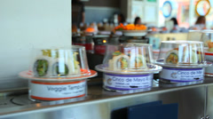 Sushi on Conveyer Belt Stock Footage