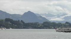 Lake Lucerne (Vierwaldstättersee) Switzerland Stock Footage