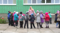 pupils do exercises on the street near school 3 HD Footage