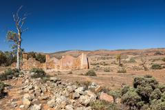 ruins of abandon kanyaka homestead. flinders ranges. south australia. - stock photo