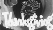 Stock Video Footage of Hurky Jerky Turkey THANKSGIVING Vintage Film Title Graphic Leader Animation 7091