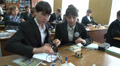 schoolchildren at the physics lesson 3 HD Footage