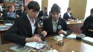 Stock Video Footage of schoolchildren at the physics lesson 3