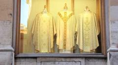De Ritis, Religious  store in Rome 2 - stock footage