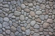 Oval stone wall Stock Photos
