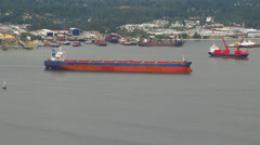 Tanker Ship Passing By Stock Footage