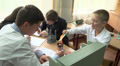 pupils in chemistry class 3 HD Footage