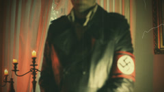 Nazi old timey video Stock Footage
