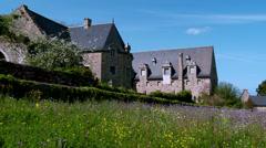 Abbaye de Beauport (4) - Paimpol France Stock Footage