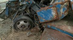 Car wrecks - stock footage