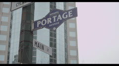 Portage and Main Sign Stock Footage
